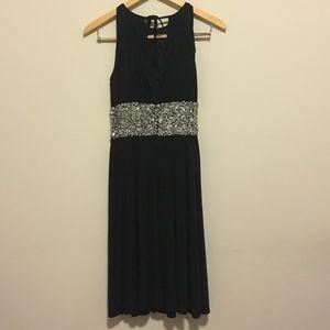 Jeweled Black Dress